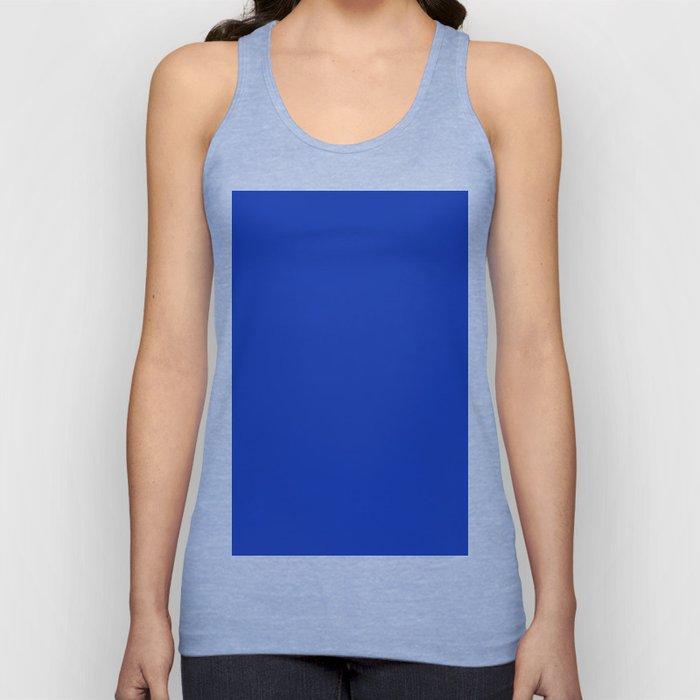 color Egyptian blue Unisex Tank Top