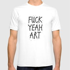 F*CK YEAH ART Mens Fitted Tee White MEDIUM