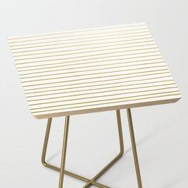 Gold Paris Stripe Pattern Side Table