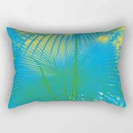 turquoise palm leaf Rectangular Pillow