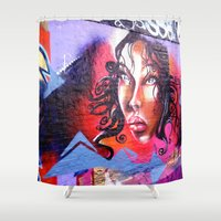 lady Shower Curtains featuring Lady  by haroulita
