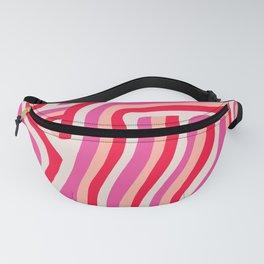 pink zebra stripes Fanny Pack