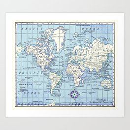 A Really Nice Map Art Print