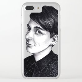 Dan Howell in space shirt Clear iPhone Case