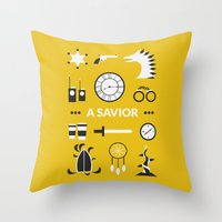 ouat Throw Pillows featuring OUAT - A Savior by Redel Bautista