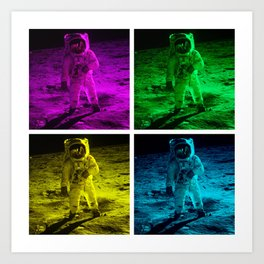 Pop Art Astronaut Art Print