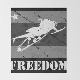 FREEDOM! Snowmobile Throw Blanket