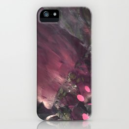 Caught Up In Mauve (3D Digital Fractal Art) iPhone Case