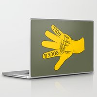 rock and roll Laptop & iPad Skins featuring Palmistry Rock and Roll by mailboxdisco