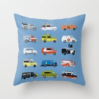 grease Throw Pillows featuring It Would Have Been Cooler as a Van by Brandon Ortwein