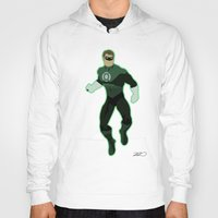 green lantern Hoodies featuring Green Lantern by The Vector Studio
