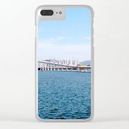Macau Bridge Clear iPhone Case