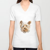 terrier V-neck T-shirts featuring Terrier  by Glen Gould