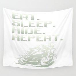 Eat.Sleep.Ride.Repeat. Wall Tapestry