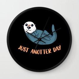 Just Anotter Day Fun Otter Wall Clock