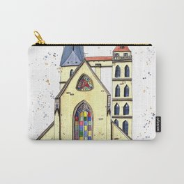 Gothic Church in Germany whimsical watercolor painting Carry-All Pouch