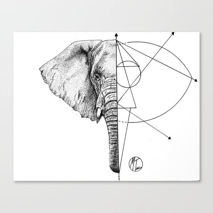 elephant lines Canvas Print
