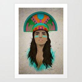 aztec princess  Art Print