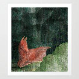 Deer N' Seek Art Print