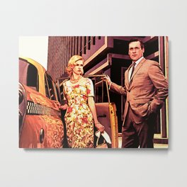 Betty & Don Draper from Mad Men - Painting Style Metal Print