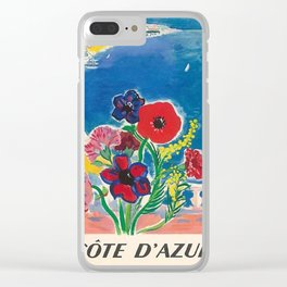1947 Cote d'Azur French Riviera Vintage World Travel Clear iPhone Case