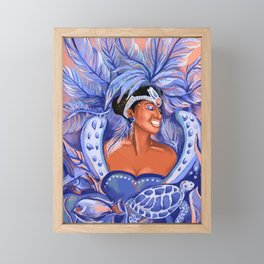 Afro Girl Carnival Festival Fashion by CIndy Rose Studio Framed Mini Art Print