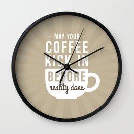 Coffee Reality Wall Clock