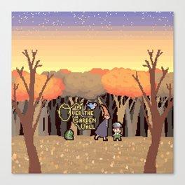 Over the Garden Pixel Canvas Print