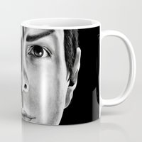 spock Mugs featuring Spock by Sarah Riebe