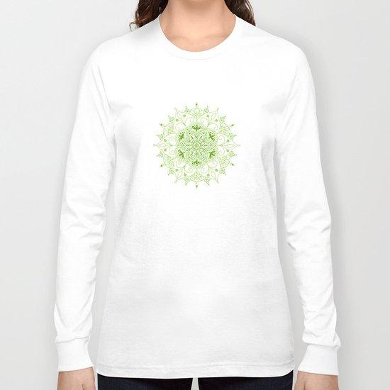 Mandala_Green Long Sleeve T-shirt