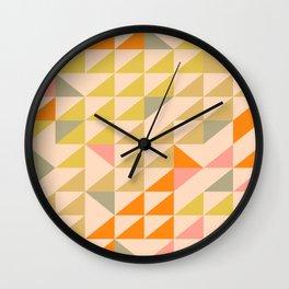 Mellow Triangles Wall Clock