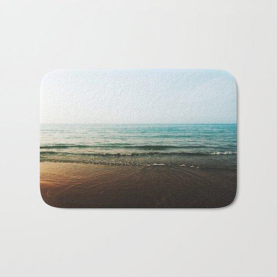 Vivid Morning Waves Bath Mat