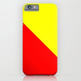 Modern Mid-Century Style (Red & Yellow) iPhone Case