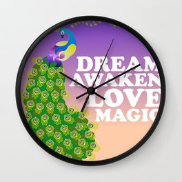 The Mystic of a Peacock Wall Clock