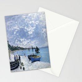 Claude Monet : Regatta at Sainte-Adresse / The Beach at Sainte Adresse Stationery Cards