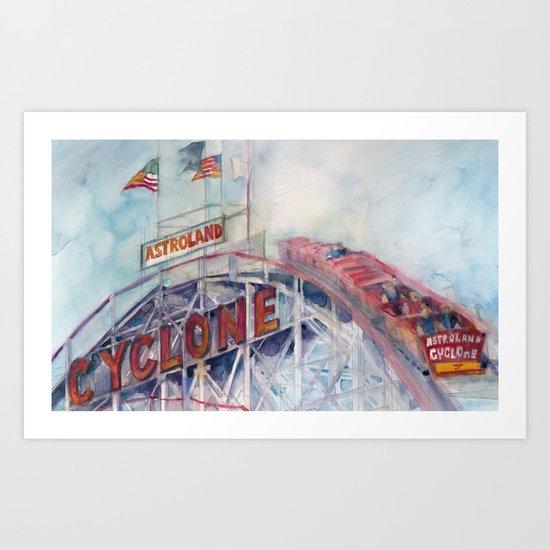 Cyclone Watercolor Art Print
