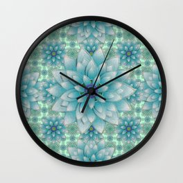 Embroidered blue&green Wall Clock