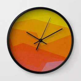 Colorful Paper Layers Wall Clock