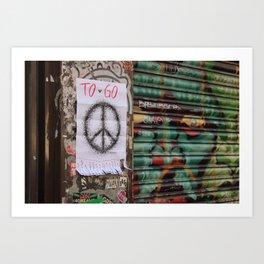 Peace to go - Brick Lane Art Print