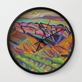 Topa Mountain Winery Wall Clock