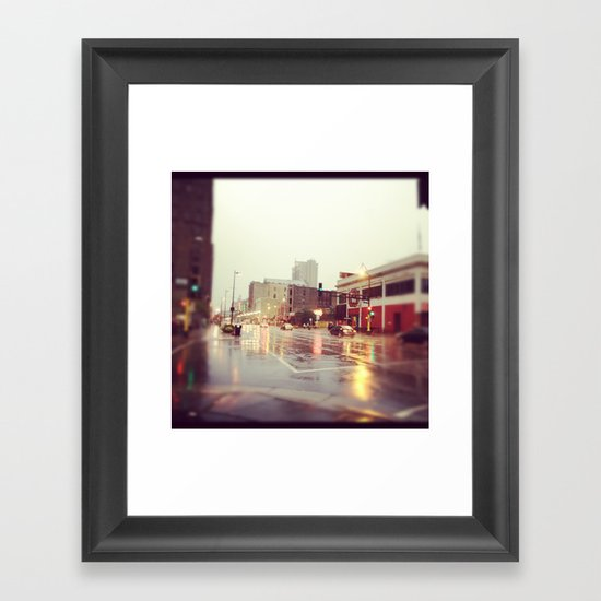 Minneapolis Rainy Day Framed Art Print