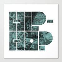 hip hop Canvas Prints featuring Hip Hop by boldversion