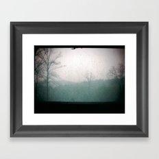 Looming Snow Framed Art Print