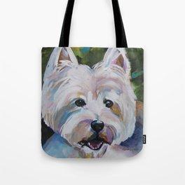 Westie Impressionism Pet Portrait Larsen 1 Tote Bag