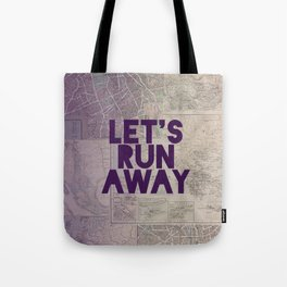 Let's Run Away x Map Tote Bag
