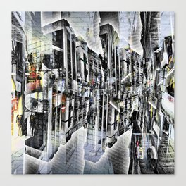 Tuesday 8 October 2013: Particularly emphasized segmentation and cohesion. Canvas Print
