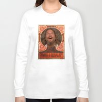 lebowski Long Sleeve T-shirts featuring Lebowski Pop by Guido prussia