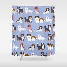 SWISS DOGS Shower Curtain