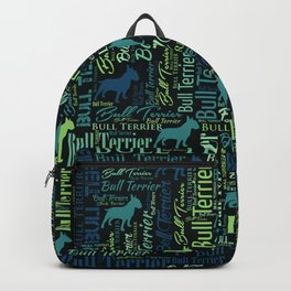 Bull Terrier Dog Word Art pattern Backpack