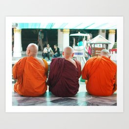 Three Wise Monks Art Print